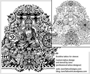meditating buddha tattoo,tibetan sleeve tattoo,tattoo template,buddhist tattoo